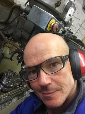 selfie in workshop